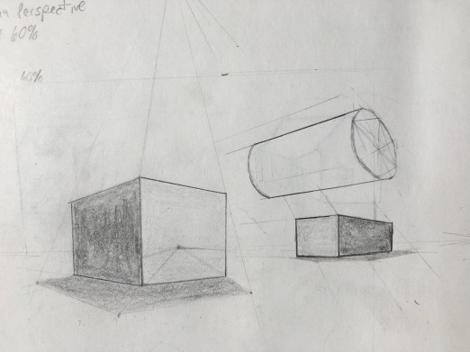 Three Point Perspective using Rule of 60%