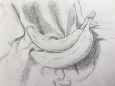 Bananas on a blanket